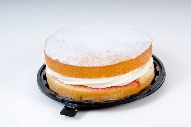 Large Dusted Jam and Cream Sponge