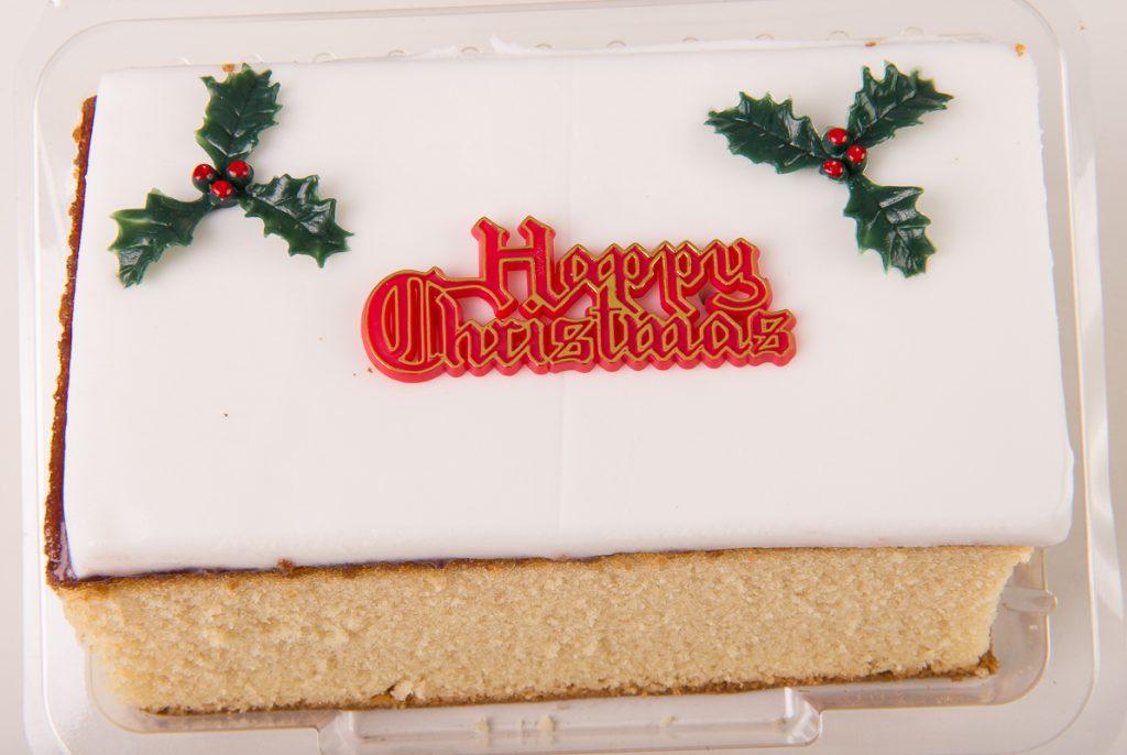 Christmas Plain Madeira Bar Cake