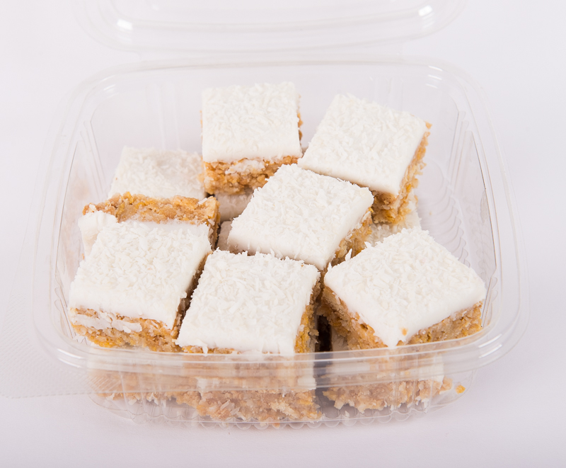Iced Coconut Bites in a Tub