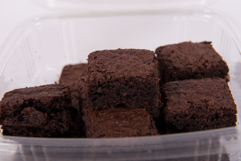 Chocolate Brownie Bites in a Tub