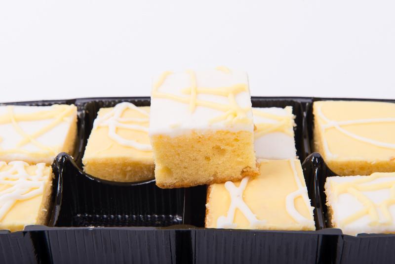 Zesty Lemon Sponge Squares 8pk